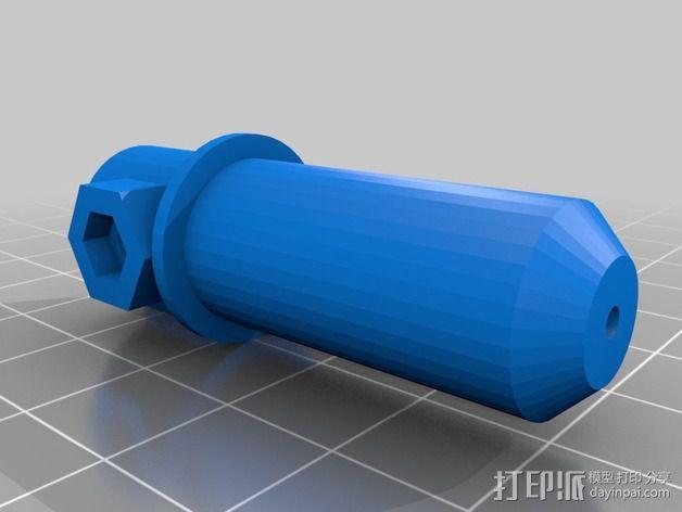 Cameo刻字机笔架 3D模型  图2