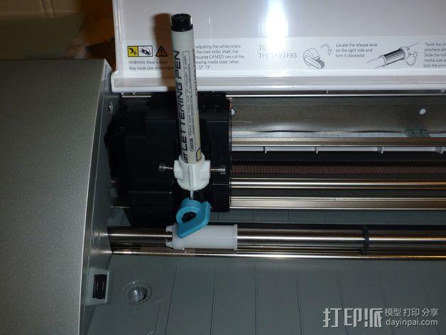 Cameo刻字机笔架 3D模型  图7