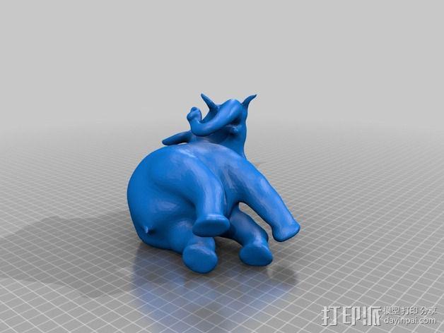 大象存钱罐 3D模型  图2