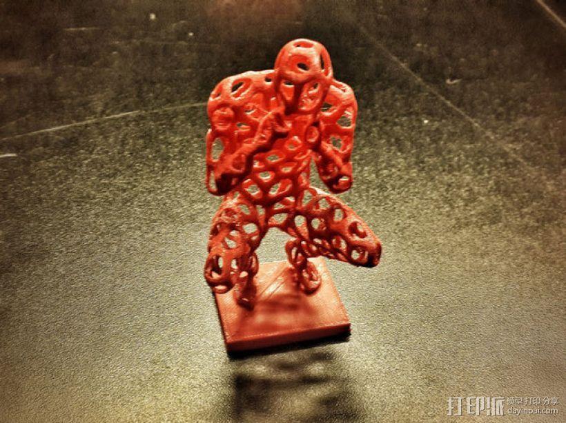 泰森多边形 人 模型 3D模型  图1