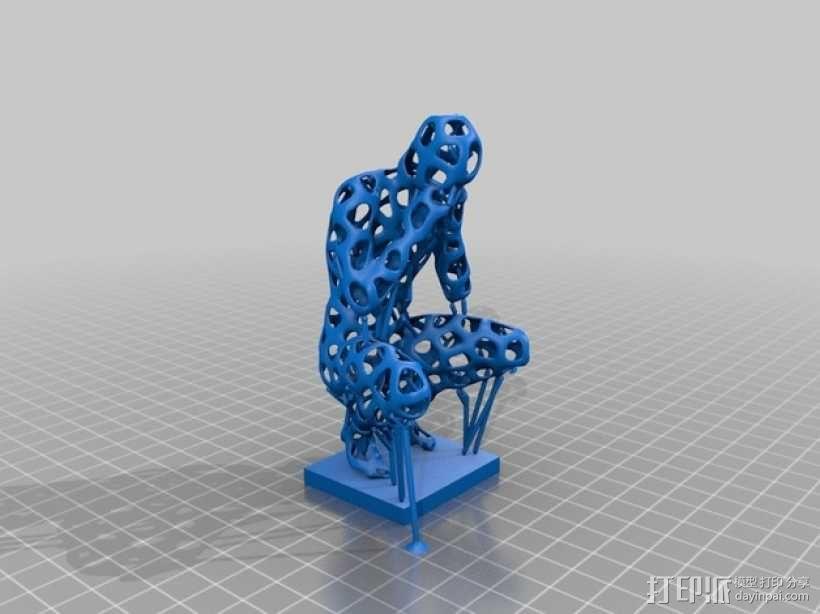 泰森多边形 人 模型 3D模型  图3