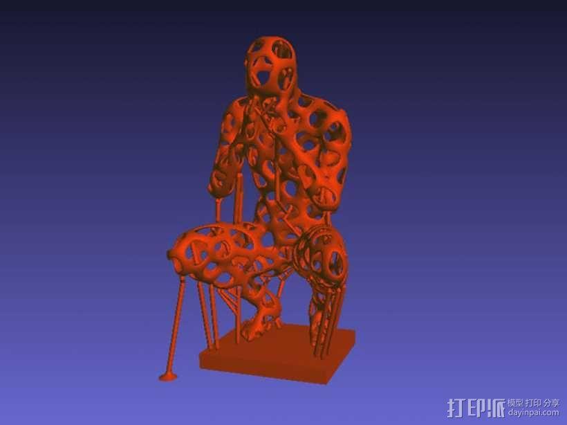 泰森多边形 人 模型 3D模型  图5