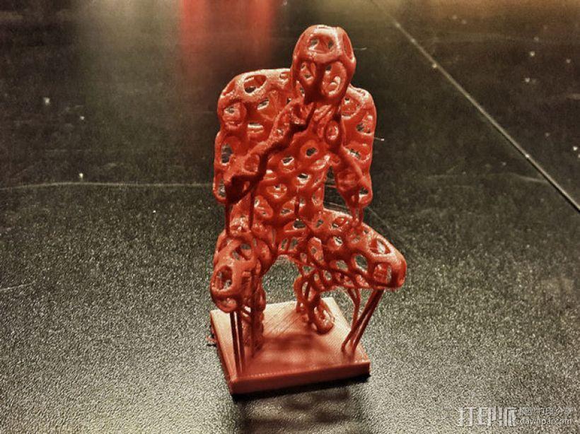 泰森多边形 人 模型 3D模型  图4