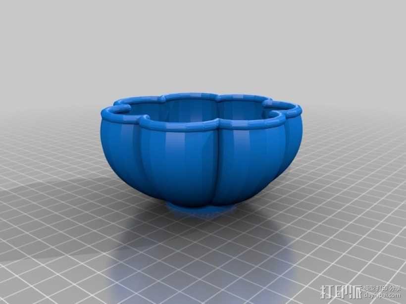花形碗  3D模型  图2