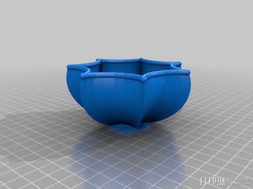 花形碗  3D模型  图3