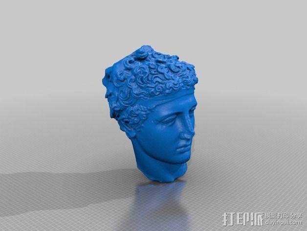 运动员头像雕塑 3D模型  图2