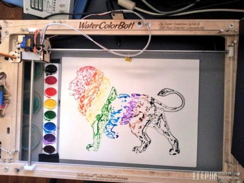 彩虹狮子 3D模型  图1