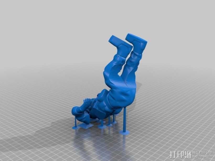 潜水员和鱼 模型 3D模型  图9
