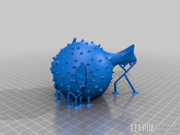 河豚模型 3D模型  图2