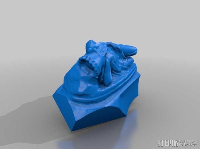 墨西哥女孩雕塑模型 3D模型  图2
