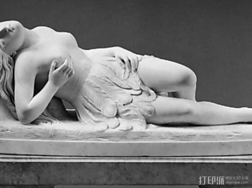 墨西哥女孩雕塑模型 3D模型  图1