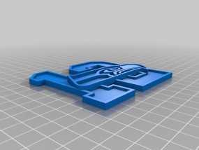 数字12和海鹰标志 3D模型
