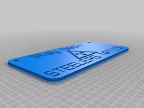 钢铁人 标签 标志 3D模型
