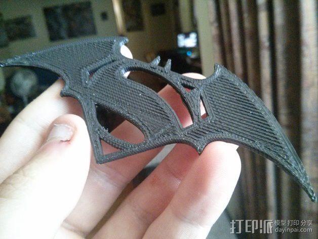 超人 蝙蝠侠 标志 3D模型  图2