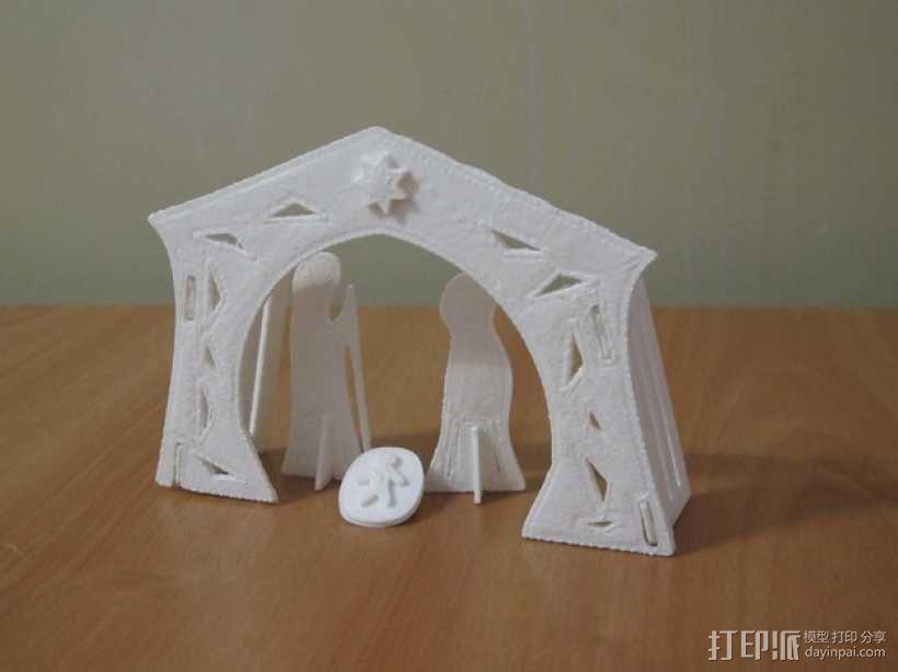 圣诞节:耶稣诞生之日 3D模型  图1