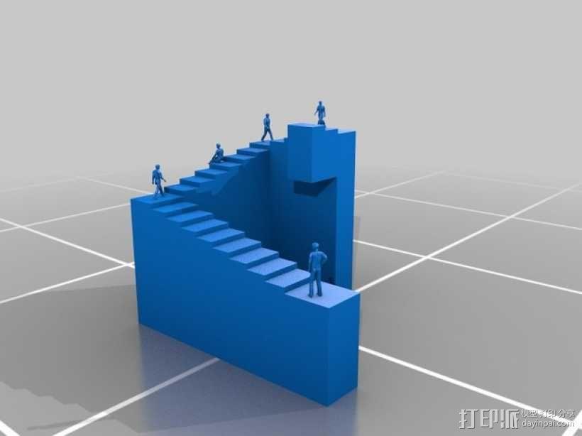 彭罗斯阶梯 3D模型  图2