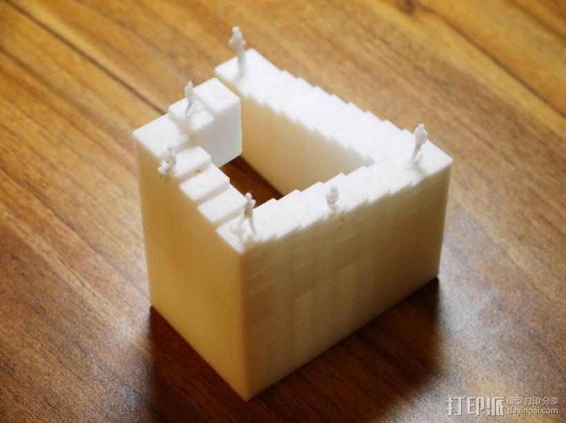 彭罗斯阶梯 3D模型  图1