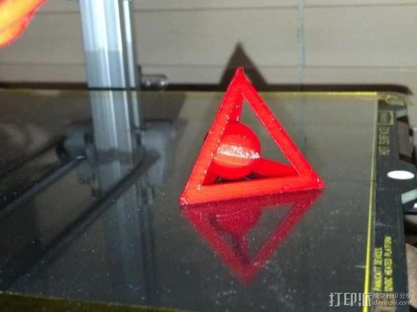 四面体和小球 3D模型  图1