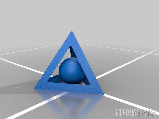 四面体和小球 3D模型  图2