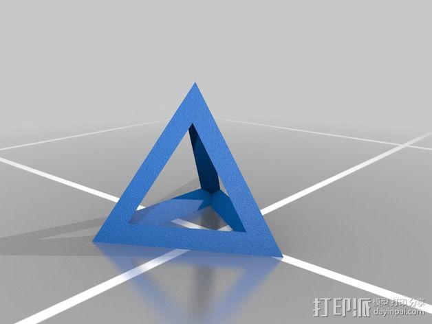 四面体和小球 3D模型  图4