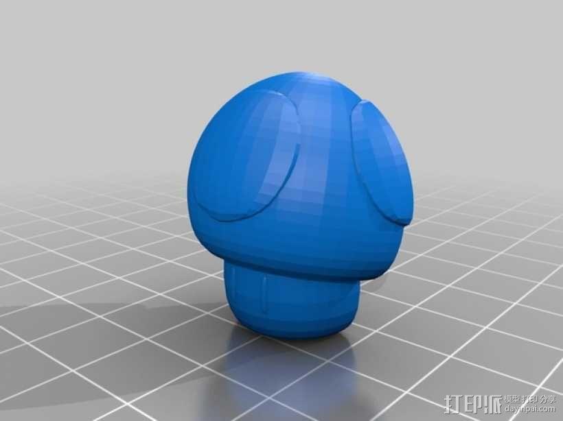 超级玛丽蘑菇装饰 3D模型  图3