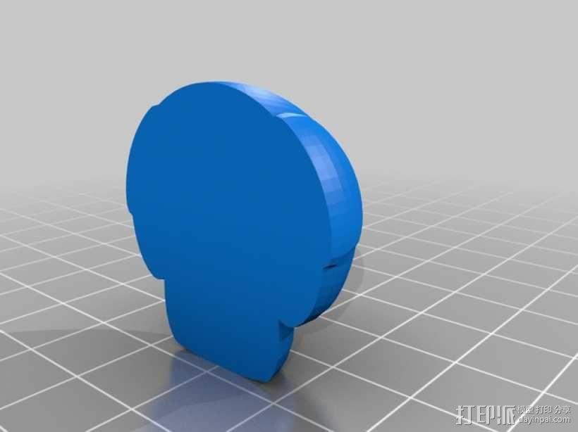 超级玛丽蘑菇装饰 3D模型  图2