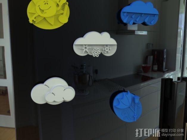 天气符号贴 3D模型  图2
