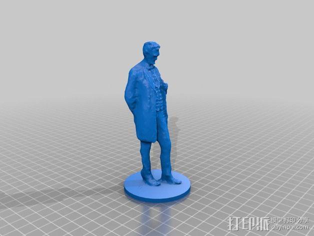 亚伯拉罕林肯 3D模型  图3