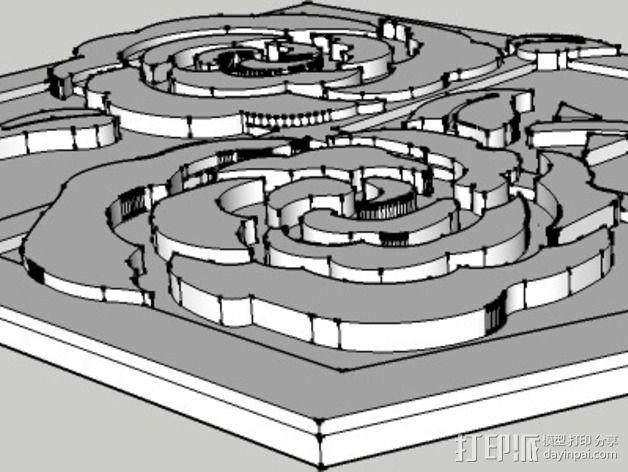 进击的巨人 屯驻地模型 3D模型  图2