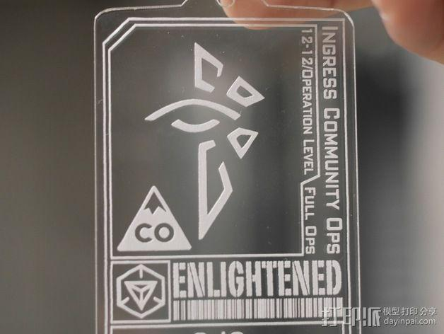 ingress游戏徽章 标志 3D模型  图3