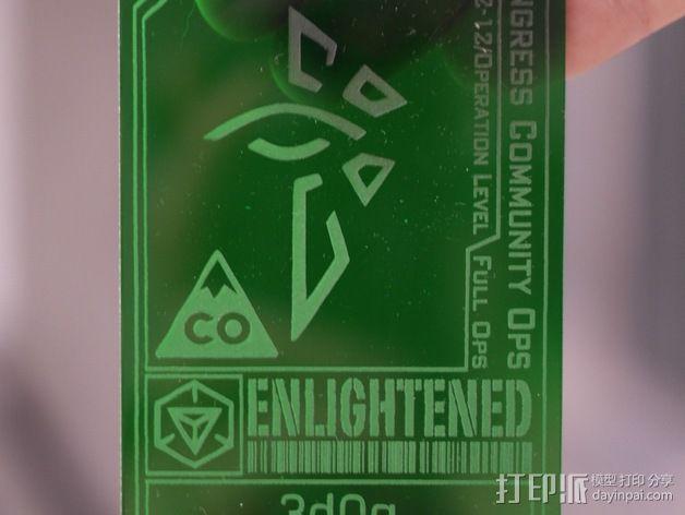 ingress游戏徽章 标志 3D模型  图2
