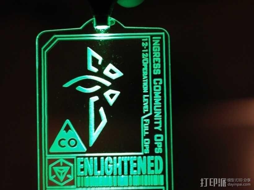 ingress游戏徽章 标志 3D模型  图1