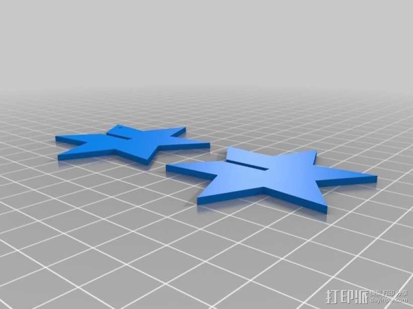 两片参数型星星 3D模型  图2