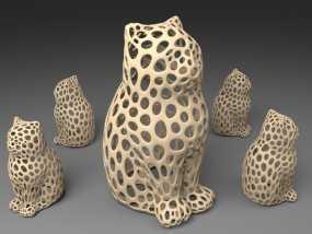 镂空猫模型 3D模型