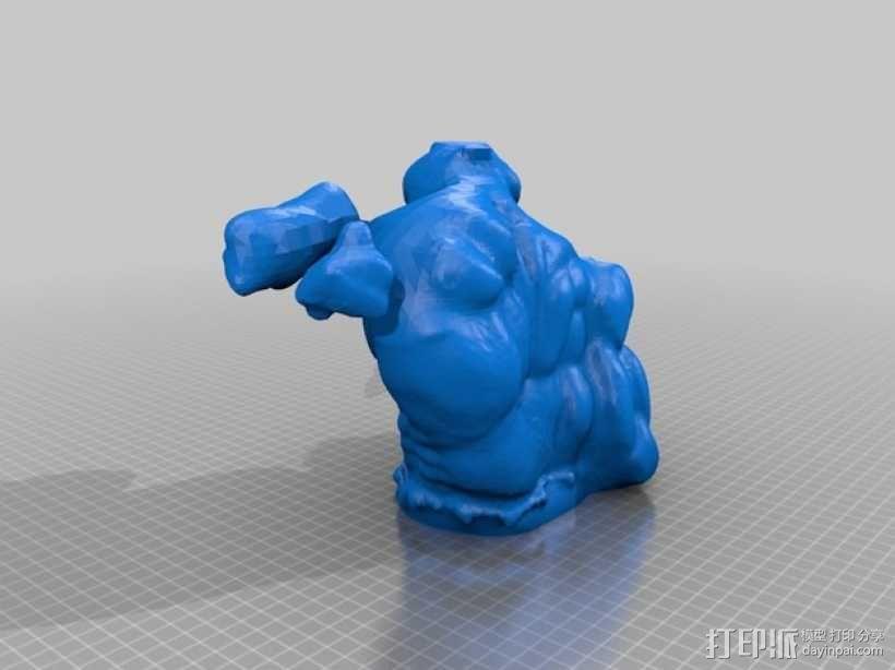 绿巨人浩克模型 3D模型  图2