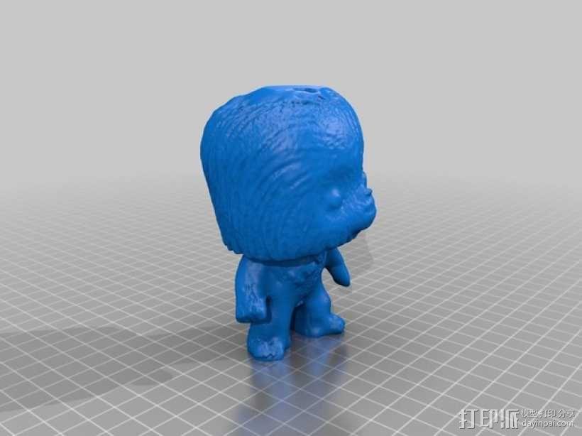 楚巴卡模型 3D模型  图2