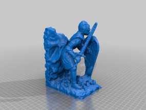 骑士雕塑 3D模型