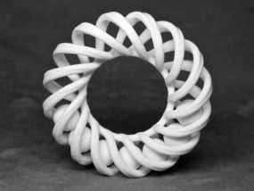螺旋戒指 3D模型