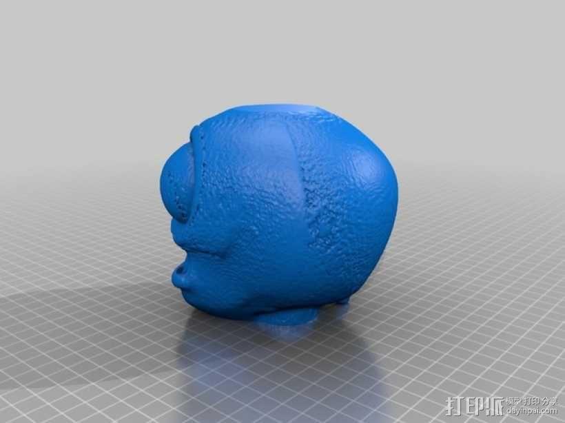 僵尸头 植物大战僵尸 3D模型  图2