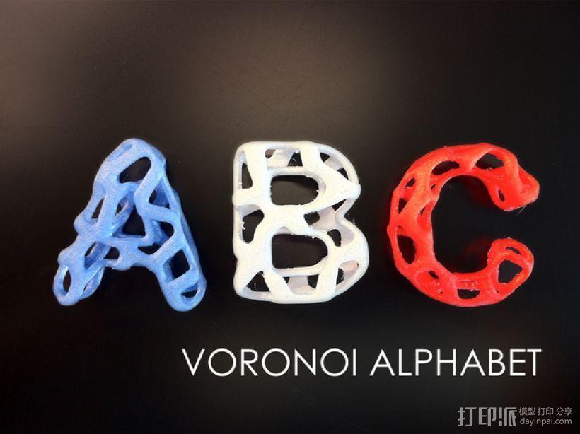 字母表 字母模型 3D模型  图1