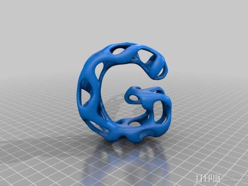 字母表 字母模型 3D模型  图8