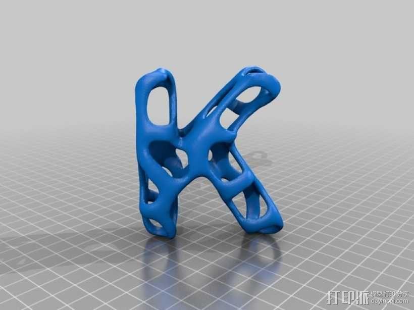 字母表 字母模型 3D模型  图12