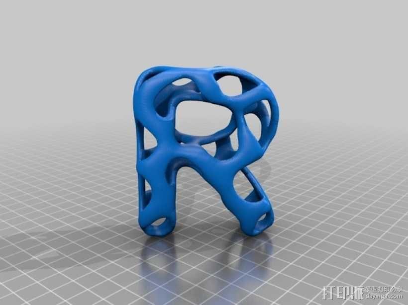 字母表 字母模型 3D模型  图19