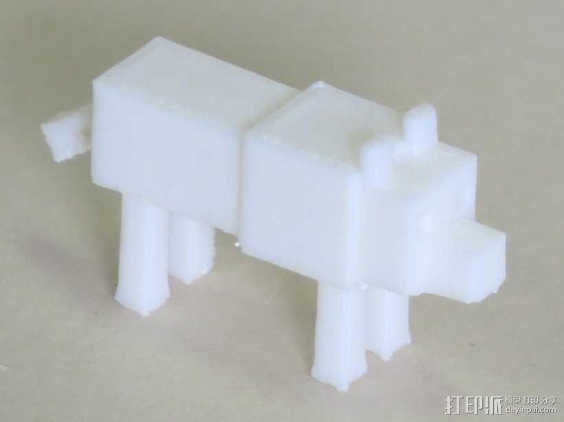 狼模型 像素图模型 我的世界 3D模型  图1