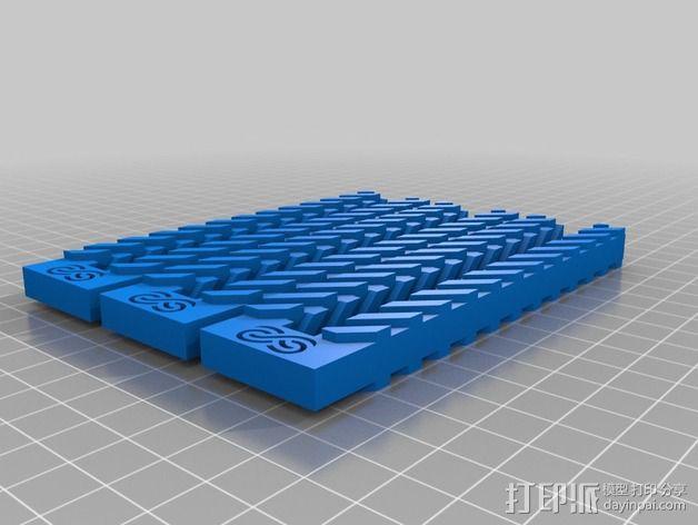 齿形夹 3D模型  图2