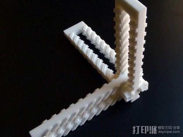 齿形夹 3D模型  图4