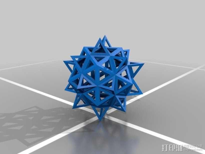 达芬奇多面体 3D模型  图2