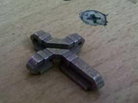 扁平交错十字架 3D模型