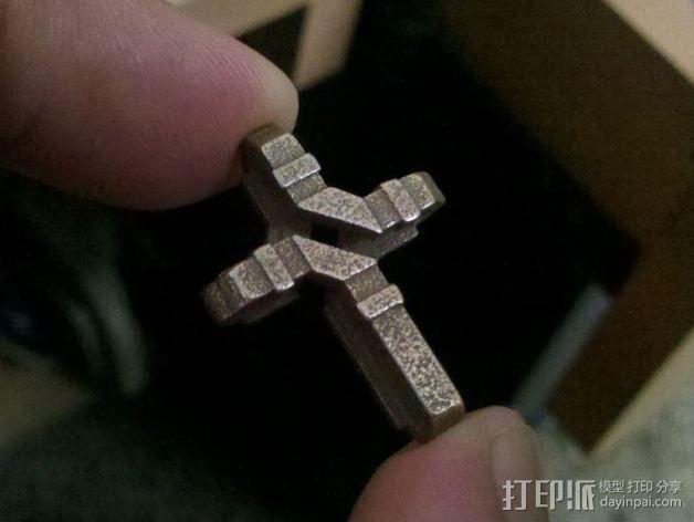 扁平交错十字架 3D模型  图2