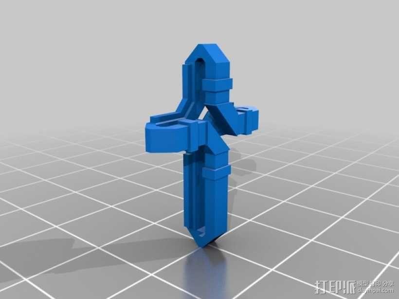 扁平交错十字架 3D模型  图7